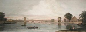 Hammersmith Bridge (Restrike Etching) by Anonymous