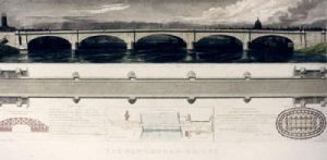 The New London Bridge (Restrike Etching) by Thomas Walker