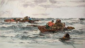 Lobster Boats (Restrike Etching) by Anonymous
