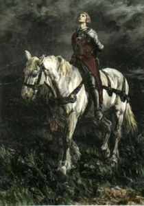 Joan des Arc (Restrike Etching) by Anonymous