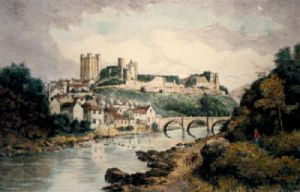 Richmond Castle (Restrike Etching) by Anonymous