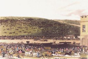 Epsom Races (Restrike Etching) by James Pollard