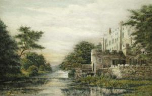 Warwick Castle (Restrike Etching) by Anonymous