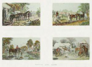 Herrings Farm Scenes (Restrike Etching) by John Frederick Herring