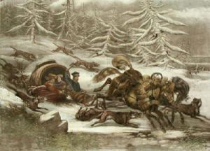 A Russian Sledge (Restrike Etching) by Ledieu