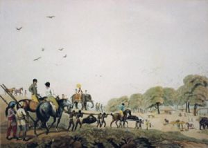 Return from hog hunting (Restrike Etching) by Samuel Howitt