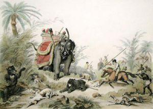 Death of a Bear (Restrike Etching) by Samuel Howitt