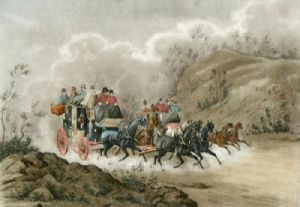 Southampton Coaches - Telegraph (Restrike Etching) by Charles Newhouse