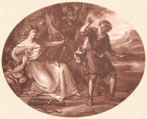 Daphnis repaid by Nomia (Restrike Etching) by Anonymous