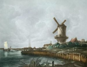 Windmill (Restrike Etching) by Anonymous