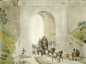 Highgate Tunnel (Restrike Etching) by James Pollard