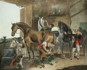 The Veterinarian (Restrike Etching) by Francis Calcraft Turner