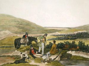 August, Grouse Shooting (Restrike Etching) by Francis Calcraft Turner