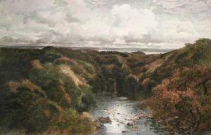 October Woodlands (Restrike Etching) by Keeley Halswelle