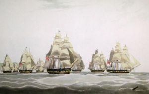 East India Ship, Inglis (Restrike Etching) by W.J. Huggins