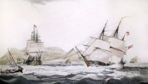 Cape of Good Hope, Table Bay (Restrike Etching) by W.J. Huggins