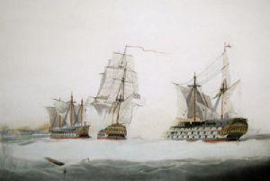 Admiral Sir John Jarvis (Restrike Etching) by W.J. Huggins