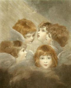 Cherub Choir (Restrike Etching) by Sir Joshua Reynolds