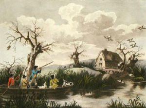 Duck Shooting (Restrike Etching) by George Morland