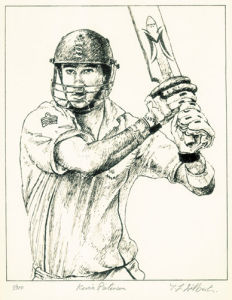 Kevin Pietersen (Restrike Etching) by Terence Gilbert