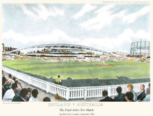 England -v- Australia (small) (Restrike Etching) by Terence Gilbert