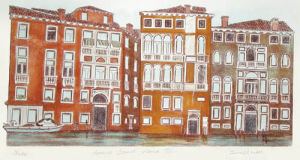 Grand Canal Venice III (Restrike Etching) by Irvine Loudon