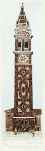 Santa Maria Formosa (Restrike Etching) by Irvine Loudon
