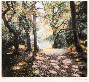 Mellow Autumn (Restrike Etching) by Jo Barry