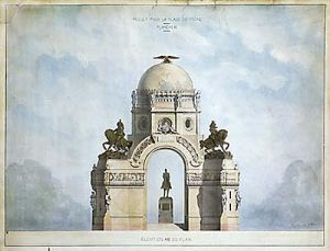 French Architectural Study by Anonymous