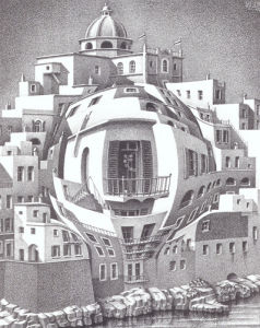 Balcony by M.C. Escher