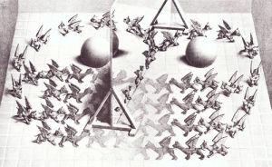 Magic Mirror by M.C. Escher