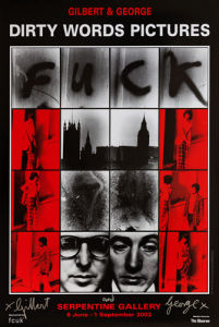 F--k, 1977 by Gilbert & George