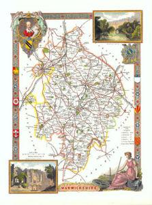 Warwickshire by Thomas Moule