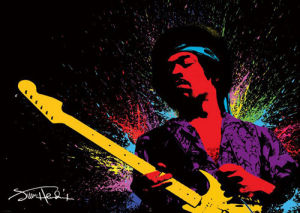 Jimi Hendrix (Paint) by Giant