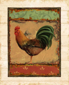 Rooster Portraits II by Daphne Brissonnet
