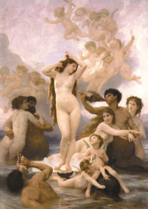 The Birth of Venus by Adolphe William Bouguereau