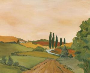 Sunny Tuscan Road by Joe Clark