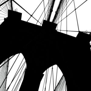 Brooklyn Bridge Silhouette (detail) by Erin Clark
