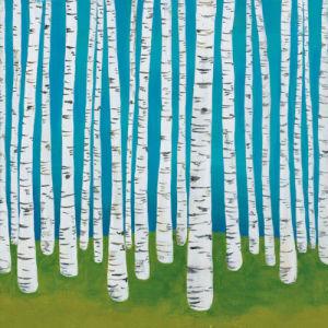 Birch Grove by Lisa Congdon