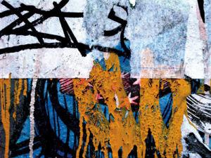 Blue Orange Layers 1 by Jenny Kraft