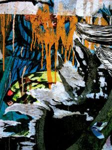 Blue Orange Layers 3 by Jenny Kraft