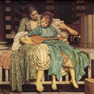 Music Lesson by Edmund Blair Leighton