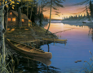 Canoe at the Cabin by Ervin Molnar