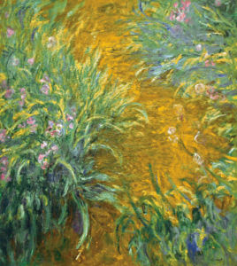 The Path in the Iris Garden by Claude Monet