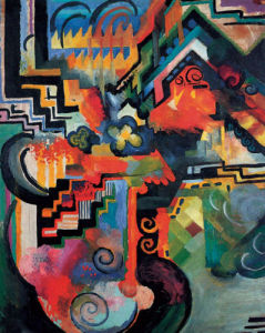 Colored composition (Hommage a Sebastin Johann Bach) by August Macke