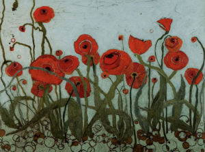 Poppyfield I by Karen Tusinski