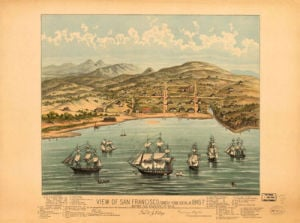 View of San Francisco 1846-7 by Anonymous