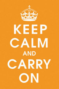 Keep Calm (orange) by Anonymous