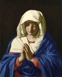 The Virgin in Prayer by Giovanni Battista Salvi Da Sassoferrato