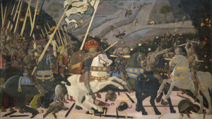 The Battle of San Romano by Paolo Uccello